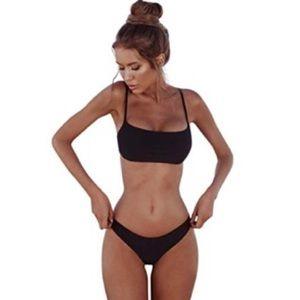 Other - ✿  Black Skinny Strap Bikini Set ✿